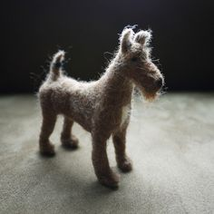 felted dog