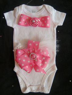 Baby girl outfit romper  onesie  bodysuit  by BeBeBlingBoutique, $22.50