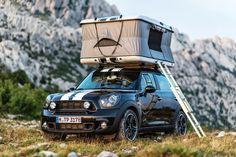 Mini Cooper Countryman rooftop tent!