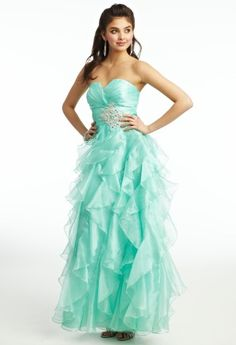 Organza Ruffle Ballgown Prom Dress from Camille La Vie and Group USA