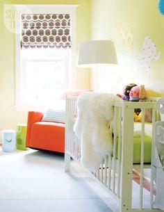 a bright modern nursery