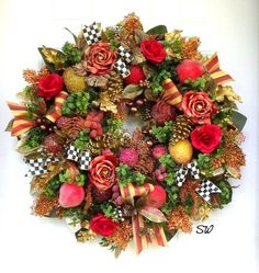 Holiday Fruit Wreath-Seasonal Wreath-MacKenzie by SeasonalWreaths