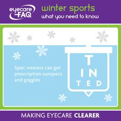 456597ed743 Did you know that you can get prescription ski goggles. Ask your dispensing  optician!
