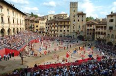 Giostra del Saracino in Arezzo in June and September Every Year