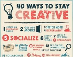 Graphic design infographic by Layerform.com http://www.layerform.com/40-ways-stay-creative-infographic/