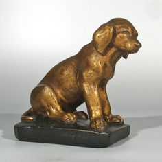 Antique French Painted Plaster Statue Puppy Dog Signed Numbered | eBay http://www.ebay.com/itm/Antique-French-Painted-Plaster-Statue-Puppy-Dog-Signed-Numbered-/281255997833?pt=Antiques_Decorative_Arts&hash=item417c29f189