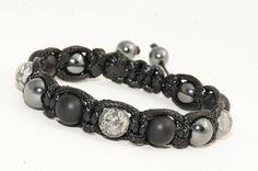 Bracelet homme pierre Agate/Jaspe paysage/Hématite Crane, Pierre Agate, Beaded Bracelets, Etsy, Jewelry, Jasper, Male Jewelry, Man Bracelet, Skull