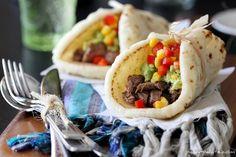 Asada Tacos with guacamole