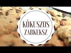 Kókuszos zabkeksz - video recept - YouTube