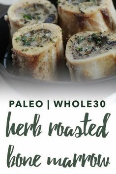 Bone marrow is a superfood prized by cultures across the globe. Try this melt-in-your-mouth paleo and Herb Roasted Bone Marrow recipe. Paleo recipes are gluten-free grain-free refined sugar free and dairy free to reduce inflammation and improve wellbeing. Beef Marrow Bones, Roasted Bone Marrow, Paleo Recipes, Low Carb Recipes, Real Food Recipes, Cooking Recipes, Grain Free, Dairy Free, Gluten Free