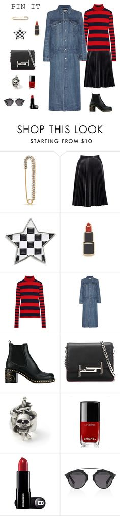 """""""Pins With Personality"""" by fashionkookoo ❤ liked on Polyvore featuring Bling Jewelry, Cusp by Neiman Marcus, Marc Jacobs, Georgia Perry, J.Crew, Helmut Lang, Miu Miu, Tod's, Chanel and Christian Dior"""