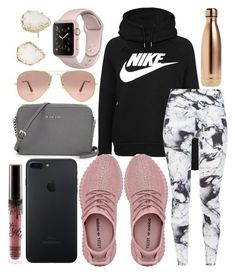 """Athletic outfit"" by jadenriley21 on Polyvore featuring NIKE, Varley, Ray-Ban, S'well and Kendra Scott #WorkoutOutfits"