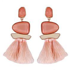 New Fringed Statement Earrings Wedding Tassel Multicolored Drop Dangle Earrings Jewelry