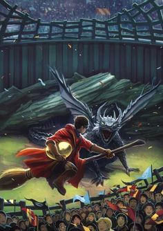 Harry Potter and the Goblet of Fire, Kazu Kibuishi -- Originally book covers published by Scholastic and illustrated by Kazu Kibuishi, these high quality giclees are limited to an edition of only Harry Potter Fan Art, Harry Potter Anime, Fans D'harry Potter, Mundo Harry Potter, Harry Potter Drawings, Harry Potter Fandom, Harry Potter Universal, Harry Potter World, Harry Potter Dragon