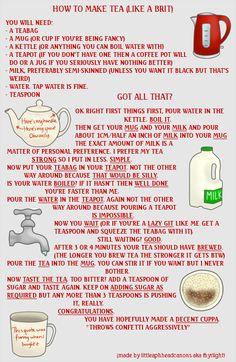 How to Make Tea (Like A Brit)