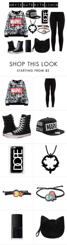 """BTS Imagine Outfit"" by bangtanbombshell95 ❤ liked on Polyvore featuring New Look, Converse, Casetify, NARS Cosmetics and Forever 21"