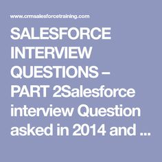 23 Best Salesforce images in 2019 | Interview Questions