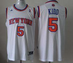 New York Knicks  5 Jason Kidd White Hardwood Classic Swingman Throwback NBA  Jerseys Throwback Nba 173c336b3