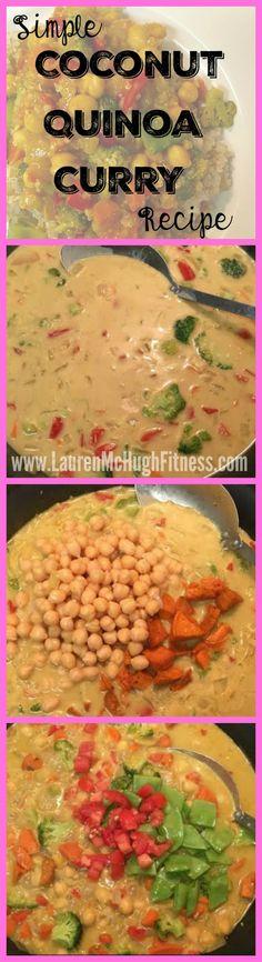 CLICK the pin for my coconut quinoa curry recipe! <3