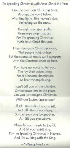 If Jesus Came to Your House poem that was one of my mom's ...
