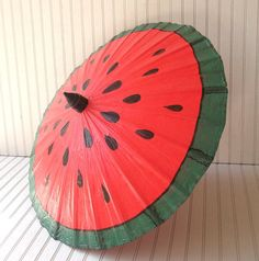 watermelon vintage canvas parasol