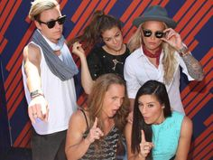 Clockwise from left: Abby Wambach, Kelley O'Hara, Ashlyn Harris, Ali Krieger, Christie Rampone. (Twitter)