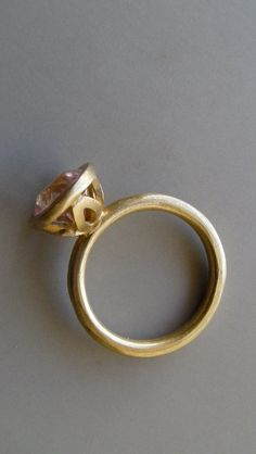 MAJESTIC FLOWER Ring in 18k Solid Gold with Pink by GiliForshmit, $1015.00