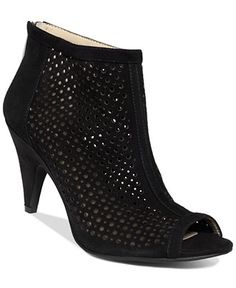 INC International Concept Women's Gutherie Perforated Booties - Booties - Shoes - Macy's