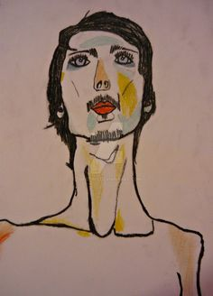 Self-portrait after Egon Schiele by theskins