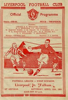 Liverpool vs Fulham 15.4.1950