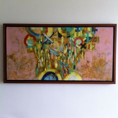 Título: El Olvido V Formato:  100 x 50 cm.  Técnica: Óleo y acrílico sobre lienzo. Año: 2015