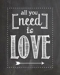 Chalkboard LOVE prints