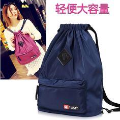 1ed0f3cb7ee8 Drawstring with travel shoulder bag. men and women light waterproof nylon  trunk backpack. folding