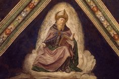 A Prayer to Saint Augustine of Hippo: Saint Augustine, detail from the Doctors of the Church Cycle, 1487-1492, fresco, Church of the Santissima Annunziata, Franciscan Monastery, Cortemaggiore, Emilia-Romagna. Italy, 15th century.