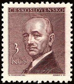 Znaczek: Dr. Edvard Beneš (1884-1948), president (Czechosłowacja) (President) Mi:CS 510,Sn:CS 320,Yt:CS 438,AFA:CS 358,POF:CS 445