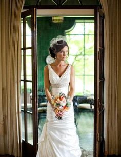Perfect. The dress cut is similar and I love a short veil.