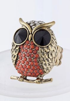 Love this cute owl ring