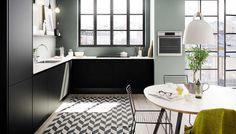 Stilsikkert kjøkken med rå rammer