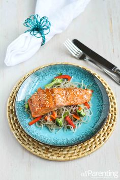 Broiled Teriyaki Salmon...easy and healthy.