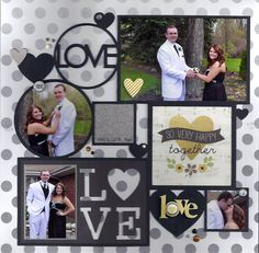 """""""Love"""".  Really like the way the """"LOVE"""" is in the circle with the attached circle frame.  Will have to look through my cricut cuts to see if I have something like this or create it."""