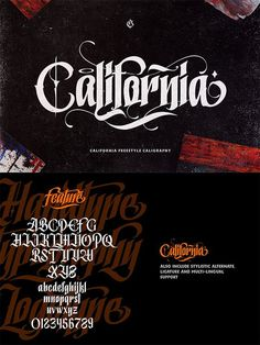 Best professional hand-picked compilation of brush fonts and script fonts that can give more artistic look to you design. These brush and script fonts based on Tattoo Lettering Styles, Chicano Lettering, Graffiti Lettering Fonts, Typography Alphabet, Typography Fonts, Lettering Design, Lettering Tutorial, Tattoo Fonts, Graphic Design Fonts
