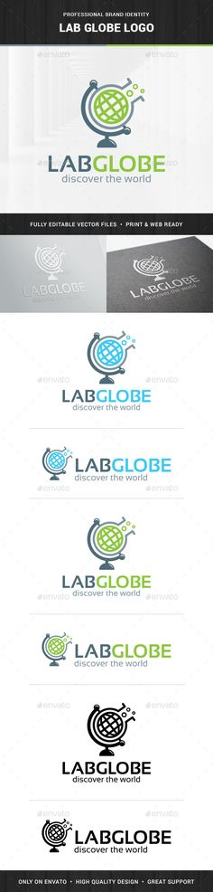 Lab Globe Logo Template