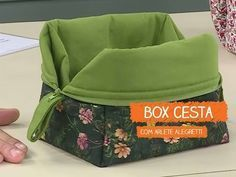 Box Cesta - Arlete Alegretti   Vitrine do Artesanato na TV - Rede Família - YouTube
