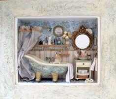 Baño con miniaturas hecho a pedido