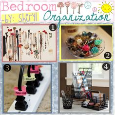 """""""Bedroom Organization -"""" by all-for-me on Polyvore. I'm pinning this just for the power strip tip"""