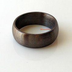 Comfort fit trouwring elysian zwarte trouwring voor mannen