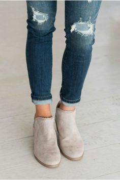 Weekend Booties - Taupe