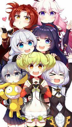 Konichiwa คิรานะ เมย์จัง ผู้อำนวยการ(ป้าคิรานะแอ๊ฟ!!) รูน่า บรอนยาย่า  (ชื่อหุ่นยนต์) ซากุระ และ หัวแดงใครวะ จำไม่ได้//โดนนางเอาดาบฟาดด