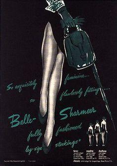 Stockings Seams Legs Belle-Sharmer 1954 Ad Wayne Knitting Mills