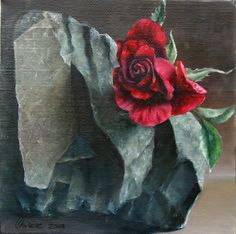 still_life-realism-fine_art-oil_painting-stone-rose